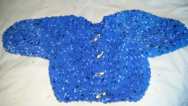 Childs Chunky Blue Cardigan