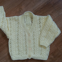 Girls Lemon Cardigan 20""