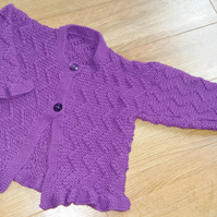 Hand Knitted Childs cardigan 22""