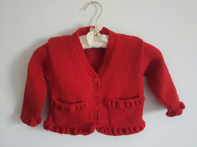 Hand Knitted Merino Wool Cardigan