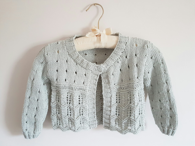 Cotton Lacy Cardigan 1-2 yrs