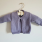 Hand Knitted Lilac One button Cardigan