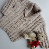 Textured Pattern Baby Cardigan