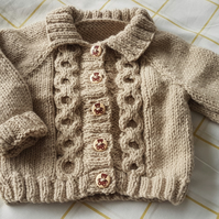 Hand Knitted Baby Cardigan 6-12 month