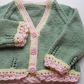 Baby Girls Hand Knitted Cardigan 6-12 months