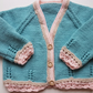 Baby Girls Lace edge Cardigan 6-12 months