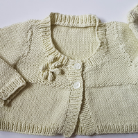 Pale Green Cotton baby Cardigan