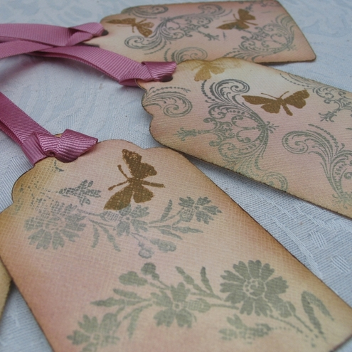 Vintage Style Butterfly Gift Tags