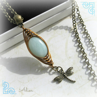 Aquamarine Wire Wrapped Necklace