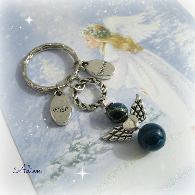Guardian Angel Key Chain or Bag Charm