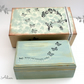 Blue Hand Decorated Wooden Box with Gift Box Blue Butterflies