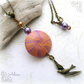 Orange and Purple Bird Necklace