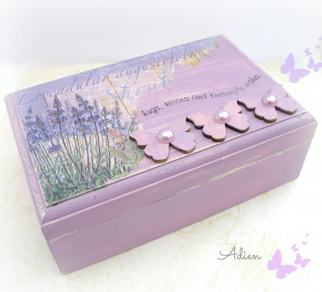 Jewellery Trinket Box Purple Lavender