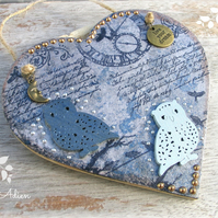 Owl Heart Decoration Live Your Dream