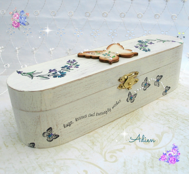 Pen and Pencil Box, Paintbrush Box, Butterfly Kisses