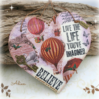 Inspirational Wooden Heart