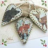 Woodland Christmas Tree Decorations