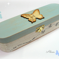 Butterfly Pen and Pencil Box, Paintbrush Box