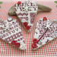 Country Christmas Wooden Heart Decorations Set of 3