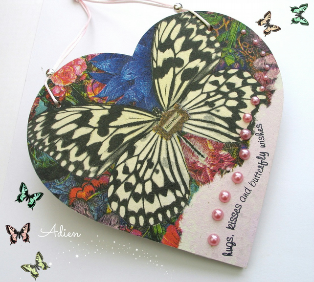 Butterfly Heart Hanging Decoration