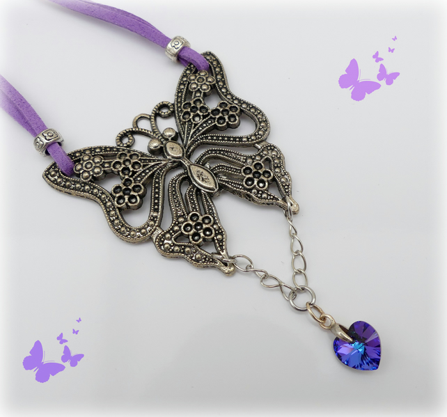SALE Butterfly Necklace