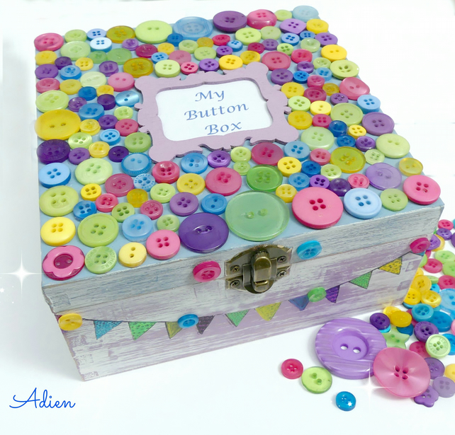 SALE Button Box, Can be Personalised