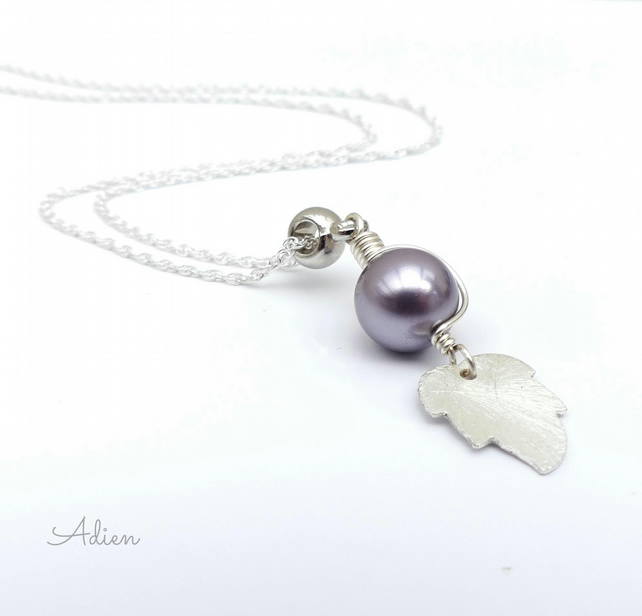 Pearl Drop Necklace Sterling Silver Chain, Gift Boxed