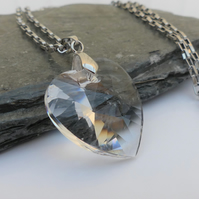 Large Crystal Heart Necklace - Swarovski Crystal ™