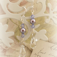 Crystal Drop Earrings with Swarovski™ Sterling Silver