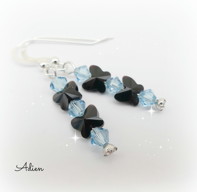 Butterfly Crystal Earrings with Swarovski™ Sterling Silver
