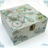 Paris Shabby Chic Wooden Box