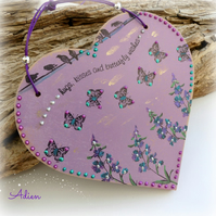 Purple Heart Decoration Butterfly Kisses
