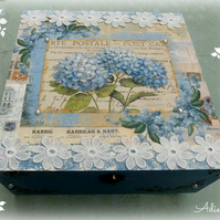 Decorated Wooden Box, Extra Large Size, Made to Order