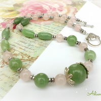 Aventurine and Rose Quartz Necklace