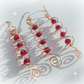 Christmas Decorations, Set of 3 Red Crystal Spirals