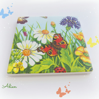 Butterfly Flowers Coaster Ceramic