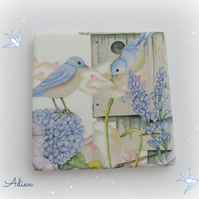 Blue Birds Coaster Ceramic