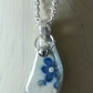 Sea pottery pendant necklace