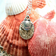 Fistral beach sand  pendant necklace