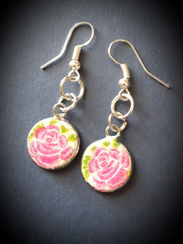 Vintage Rose drop earrings