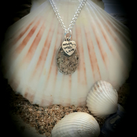 Great Western beach sand filled pendant necklace