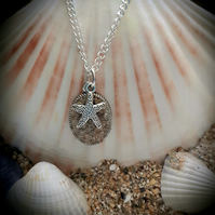 Porth beach sand filled pendant necklace