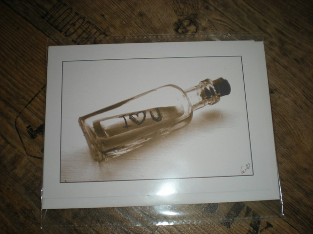 In a bottle.. - Blank Card
