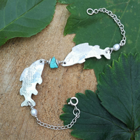 'Swim little fishes' bracelet