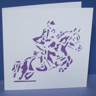 Horse Riding Card - Hand Cut Horse Rider
