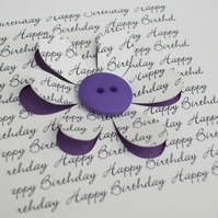 Birthday card - Button Flower