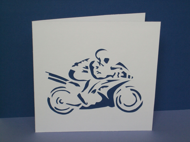 Motorbike Card-Perfect for a Birthday, Father's Day...