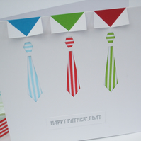 Father's Day Card - Fathers Day Card Stripy Tie