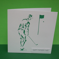 Father's Day Golf Card - Fathers Day Card