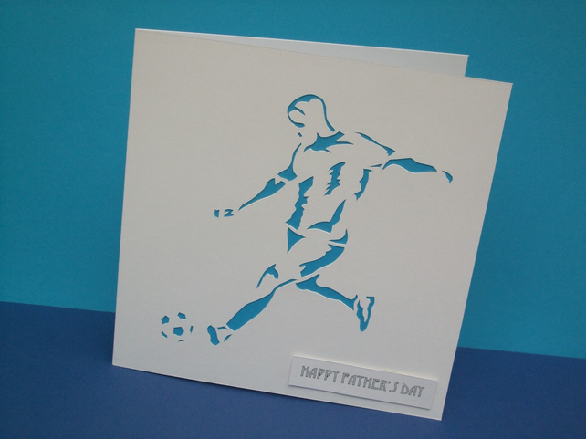 Father's Day Football Card-Fathers Day Card